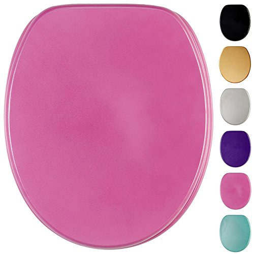Glitzer WC Sitz, viele schöne glitzer WC Sitze zur Auswahl, hochwertige und stabile Qualität aus Holz (Glitzer Pink)