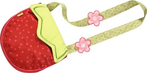 (HABA 302608 - Kinder-Tasche Erdbeere, fruchtig-fröhliche Kinder-Tasche für Mädchen ab 2 Jahren, Umhängetasche aus Polyester in süßer Erdbeerform, mit Klettverschluss, schönes Geschenk zum Geburtstag)