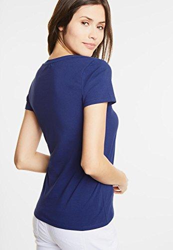 Street One Damen Basic Rundhalsshirt Plia lapis blue (blau)