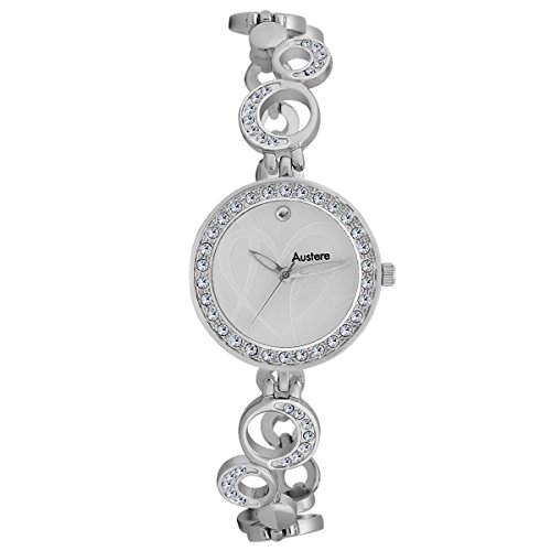 Austere ELLEN Analogue Silver Dial Women's Watch (WEL-0107)(WEL-0107)  available at amazon for Rs.949