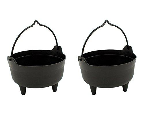 25.40 x 5.08 cm, 26 cm, schwarz, Kunststoff, für den Garten, Motiv Halloween Kessel, Töpfe