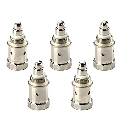 Discoball - 5 x 1.2 ohm Replacement Coils Atomizer Head for G3 E cigarettes   Electronic Cigarettes Clearomiser   Electronic Cigarette Atomizer   Eshisha Kit   Silver Color by Discoball