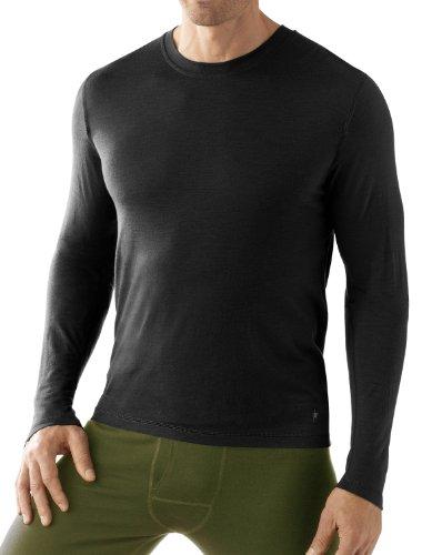 Smartwool Herren T-Shirt NTS Midweight Crew, black, XL, SN606 (Pullover Crew Midweight)