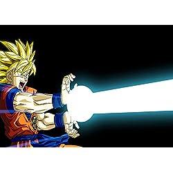 Cartel bola Sangoku Dragón Z Super Saiyan KAMEHAMEHA animado de Manga pared del arte