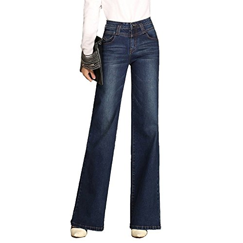 Minghe Damen Jeans Hose Bootcut Jeanshose Hohe Taille Flare Freizeithose - Stretch, Denim, Bootleg-jeans