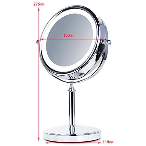 LOYWE LED Beleuchtet wunderschöne Kosmetikspiegel 1+10F,LWW30-10