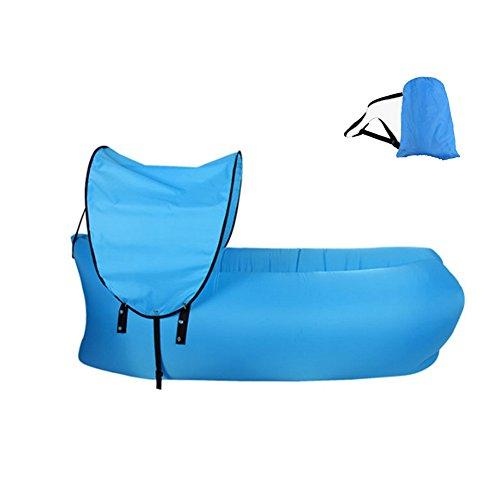 OOFAY Tragbarer Lazy aufblasbares Sofa Outdoor Indoor Air Sleep Schlafcouch Oxford Tuch Wasserdicht klappbar Sitzsack für Sommer Camping Strand Angeln, blau