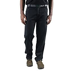 0-Degree Mens Cotton Jeans (Jemagrey362 _Grey _36)