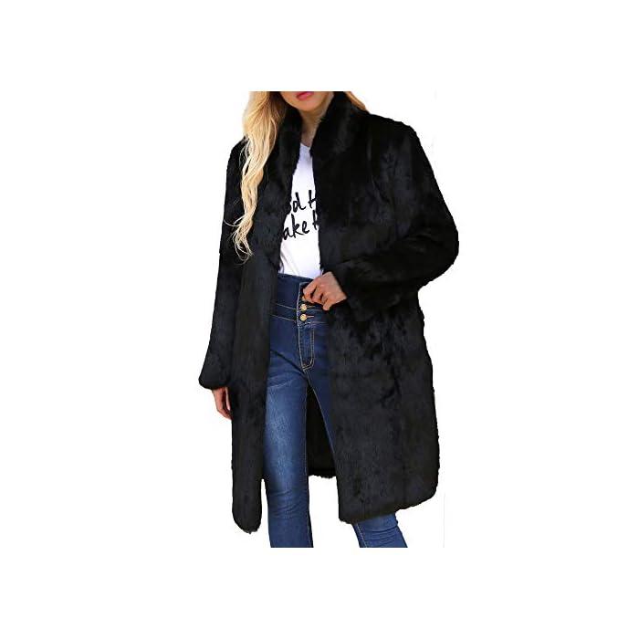 URSING Damen Mantel Warme künstliche Wollmantel Stehkragen Jacke Winter Parka Oberbekleidung Winterjacke Winterparka…