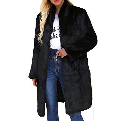 Tonsee  Manteau Femme, Nouvelle Mode Chaud Manteau en Laine Artificielle Stand Col Blouson Parka d'hiver