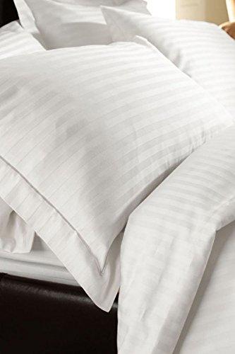 König Bettbezug Bettwäsche-set (Premium Bettbezug-Set aus 100% Baumwolle mit Fadendichte 300, Weiß, 100 % Baumwolle, weiß, 220 x 230cm)