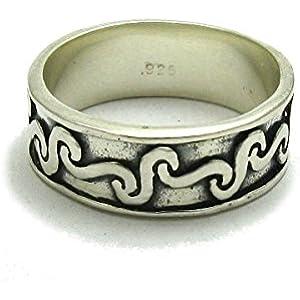 Sterling silber ring keltisch band 925 Empress Größe 46 - 75