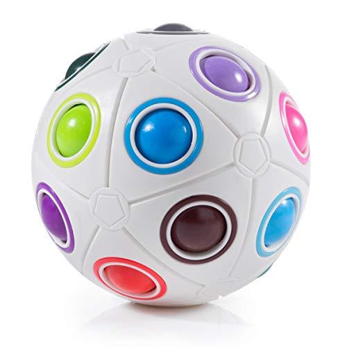 digitCUBE Magic Ball XL - Spielzeug 2019 Fidget Regenbogen Puzzle Zauberball für Konzentration - Geschenk für Kinder Geburtstag (XL) (Erwachsenen-magic 8 Ball)