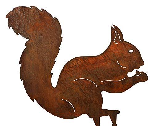 Blümelhuber Gartenstecker Eichhörnchen 32cm x 32cm Metall Rost Gartendeko Edelrost