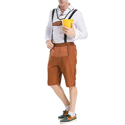 Gentleman Oktoberfest Halloween Kostüm Cosplay Uniformen Männer (M, Gelb)