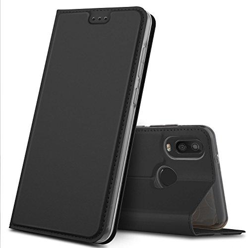 GeeMai BQ Aquaris X2 ülle, Premium BQ Aquaris X2 pro Leder Hülle Flip Case Tasche Cover Hüllen mit Magnetverschluss [Standfunktion] Schutzhülle handyhüllen für BQ Aquaris X2 Phone