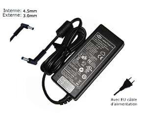 """AC Adaptateur secteur pourHP Pavilion 15-N036SF 15-N037CL 15-N038SF 15-N040EA 15-N040USchargeur ordinateur portable, adaptateur, alimentation """"Laptop Power (TM)"""" de marque (avec garantie 12 mois et câble d'alimentation européen)"""