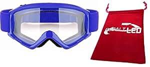 Cobalt®: Motocross Occhiali Occhiali bicicletta/moto (Outdoor vento protezione degli occhi), Blue