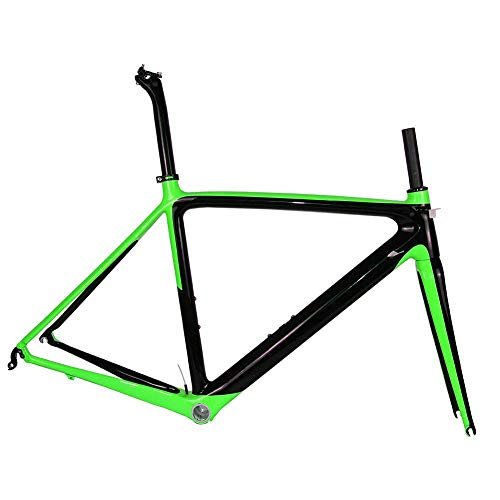 2019 neue carbon modell rennrad rahmen di2 und rennrad bsa größe 50/53/55 cm (grün),50cm