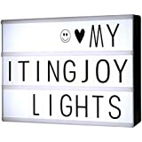 Lightbox Cinematic Light Up Box: Led Message Board with Black Letters, Numbers & Symbols