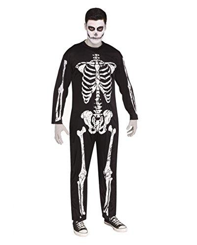 Horror-Shop Skelett Halloween-Kostüm mit Knochen Print