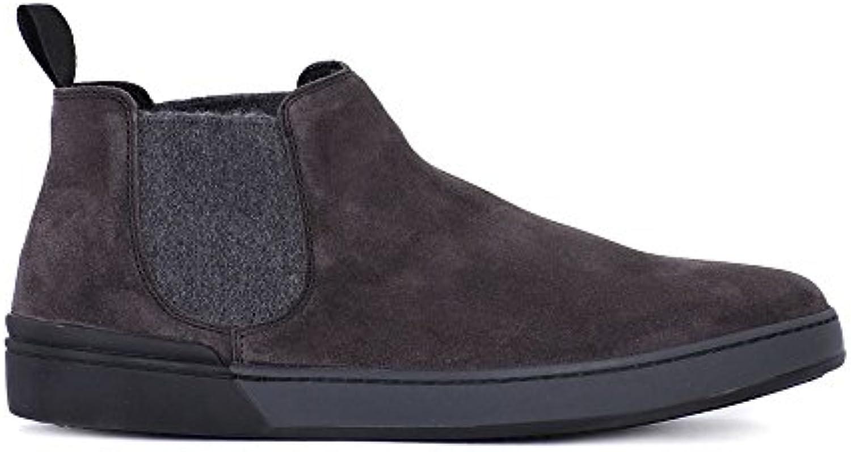 FRAU 20H2 gamuza gris hombre elásticas zapatos de gamuza mediados