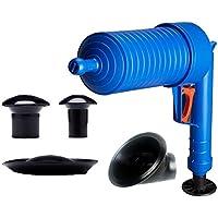 Drenaje de Aire a Alta presión Limpiador de chorros ABS Plástico Tubería Desagüe Inodoros Tubos y desagües obstruidos con 4 adaptadores