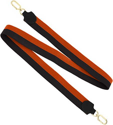 Liebeskind Berlin Damen Dstrap Volume Schultergurt, Mehrfarbig (Black/Orange), 0,5 x 4 x 118 cm