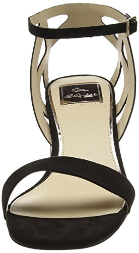 Miss Selfridge Mini Block Heel, Bride de cheville femme Noir (noir)