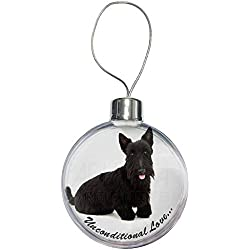 Scottish -Terrier-Hund - With Love Weihnachtsbaum Flitterdekoration Geschenk