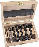 Famag Forstnerbohrer Set WS Bormax, 6-teilig, Holzbohrer ø 15-40 mm, Länge 90 mm, in praktischer Holzbox, 1622606