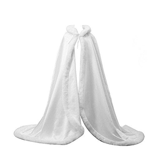 FOLOBE Faux Pelz Bolero Braut Kap Kapuzenmantel Stola Boden Winter Pelz (Kaps Size Plus)