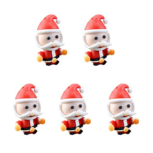FITYLE Miniatur Ornament Kits Set für DIY Fairy Garden Puppenhaus Dekoration - 5pcs Santa's Hug, 2x3cm (Kit Santa Ornament)