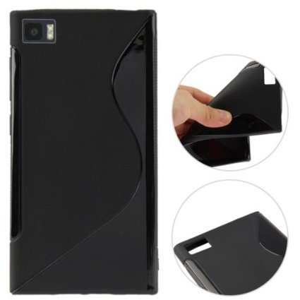 ESI Black S Line Soft TPU Gel Case Cover Skin For Xiomi MI3