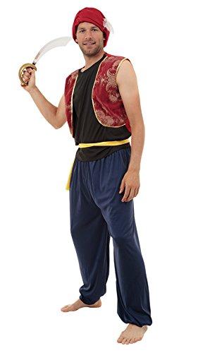 MENS ARABIAN BANDIT FANCY DRESS (Arabian Uk Costume)