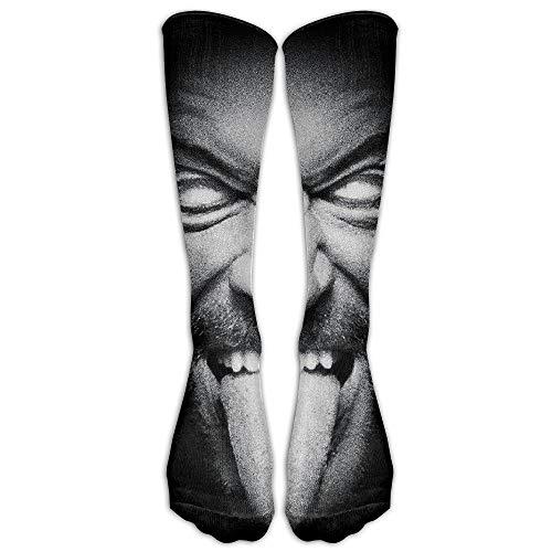 Jxrodekz Unisex Strong The Undertaker Big Face Poster Cool Knee High Socks