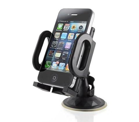 Handy Halterung Halter Stütze mit Saugnapf-Standfuß (rutschfest) für alle Handy-Modelle, perfekt für Apple iPhone 3G & 3GS oder iPhone 4, Samsung Galaxy S4/S3/S2, Nokia N8-00, HTC Desire HD, Sony Ericsson Xperia X10, RIM Blackberry Torch 9800, Marke