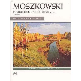 15 VIRTUOSE ETUEDEN OP 72 PER ASPERA - arrangiert für Klavier [Noten / Sheetmusic] Komponist: MOSZKOWSKI MORITZ