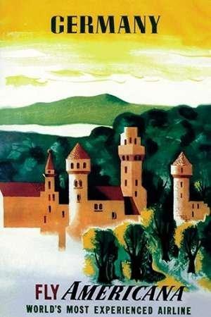 Feelingathome-Leinwand-Bild-Deutsch-Schloss-cm86x57-Kunstdruck-auf-Leinwand