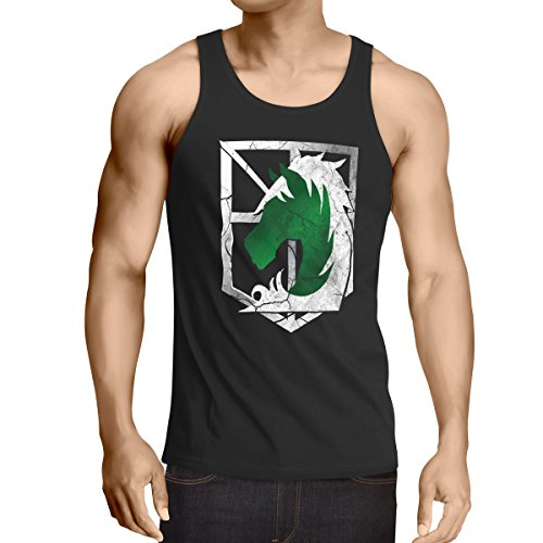A.N.T. Titan Militärpolizei Wappen AoT Herren Tank Top on Attack, - Tank-top Riesen