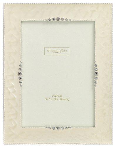 addison-ross-wedding-photo-frame-4x6-starburst-cream-enamel-4-x-6-inches