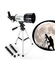 Prakal Prakal Telescope, Travel Scope, 90 X Refractor Telescope, Astronomy Telescope Tabletop Nature Exploration Gifts Toys for Kids, Adults Sky Star Gazing, Birds Watching