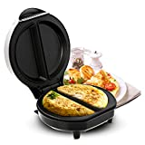 Geepas 700W Omelette Maker | Electric Cooker Stainless Steel Non-Stick Plate | Automatic