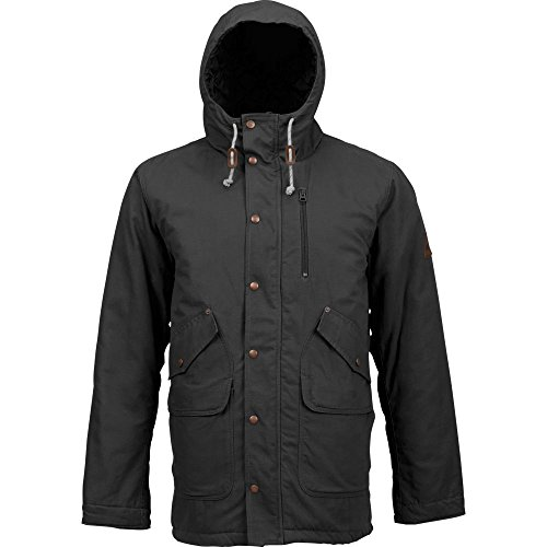 Burton Herren Sherman Jacket Jacke, True Black, L (Jacken Burton Insulated)