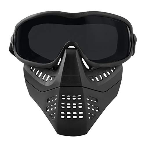 YxFlower Schutzmaske für Paintball/Airsoft/Motorrad/Cosplay/Halloween/CS/Taktische Maske für Nerf Airsoft Paintball Kinder