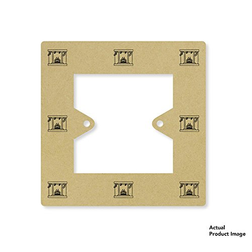 Price comparison product image 'Christmas Fireplace' Square Light Switch Plate / Surround (LS00001499)