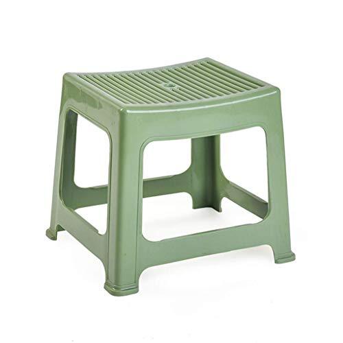 CWJ Praktische Stuhl Kunststoff Stapelhocker, Rutschfeste Badezimmer-Hocker, Kinder Tritthocker, Home Schuhhocker, Mode Hocker für Wohnzimmer kreative Hocker,rot