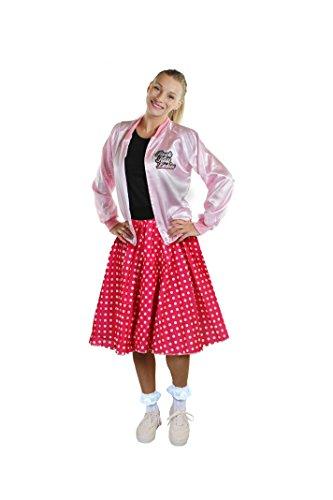 DAS PERFEKTE 50iger JAHRE RETRO ROCK&ROLL KOSTÜM FÜR FASCHING KARNEVAL WESTERNTANZ ODER ROCKn ROLL FESTIVAL= VON ILOVEFANCYDRESS® =POLKA DOT ROCK MIT DER LÄNGE VON 66cm IN VERSCHIEDENEN FARBEN UND DEM (Dress Kostüme Barn Fancy Dance)