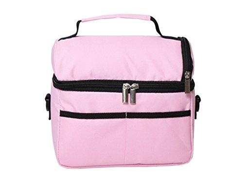 Großvolumige Eisbeutel Doppel Campingkühltasche Mittagessenbeutel Reisen Im Freien Frisch Paket,Pink