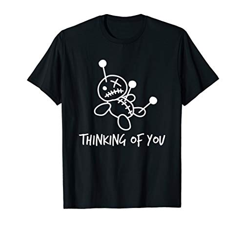 Thinking of You Lustige Voodoo Puppe Valentinstag Geschenke T-Shirt